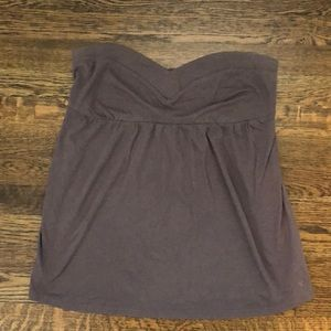 American Eagle Strapless Tube Top Brown